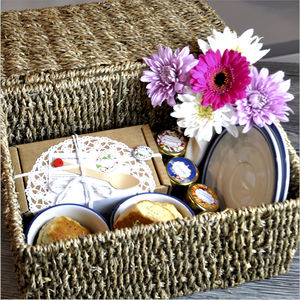 Cream Tea Hamper With China Set - alcohol free hampers