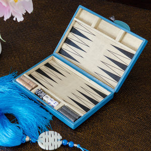 Turquoise Backgammon Set - board games & puzzles
