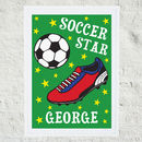 Personalised 'Soccer Star' Print