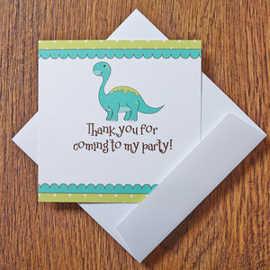 Dinosaur Thank You Cards - invitations