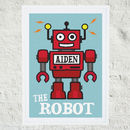 Personalised 'Robot' Print