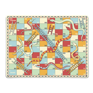 Snakes And Ladders Design / Large Magnetic Notice Board