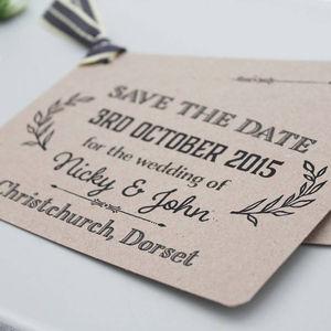 Gatsby Wedding Save The Date Card