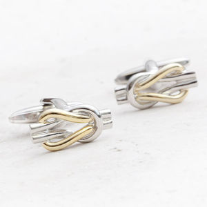 Personalised Eternity Silver And Gold Plated Cufflinks