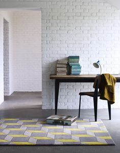 Pastel Lemon Geometric Rug
