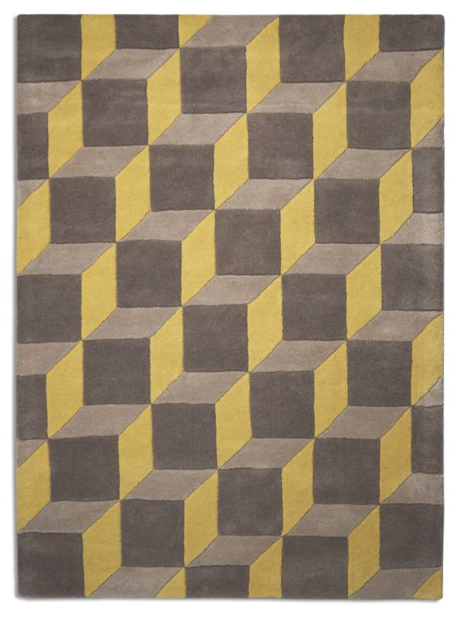 Pastel Lemon Geometric Rug By I Love Retro