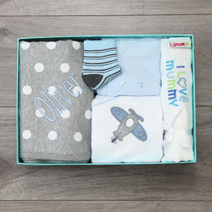 Personalised I Love Mummy Baby Boys Gift Set - gifts for new mums