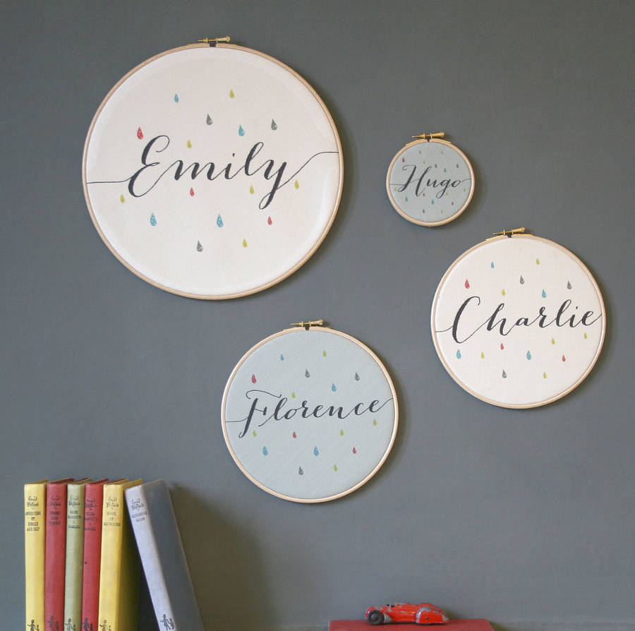 Personalised Baby Name Hoop By Modo Creative