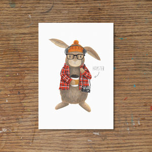 'Hopster' Art Print - easter home