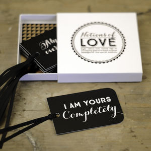Notions Of Love Set Of Eight Message Tags - gifts for him