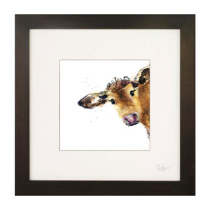 Inky Cow Illustration Print - what's new