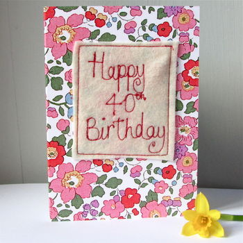 Special Age Embroidered Birthday Cards