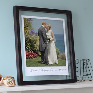 Glass Framed Giant Polaroid Print - posters & prints