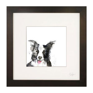 Inky Dog Illustration Print