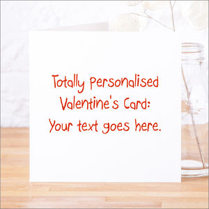 Personalised Valentine's Card - personalised cards