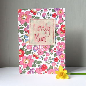 Embroidered Mother's Day Card - sentimental cards