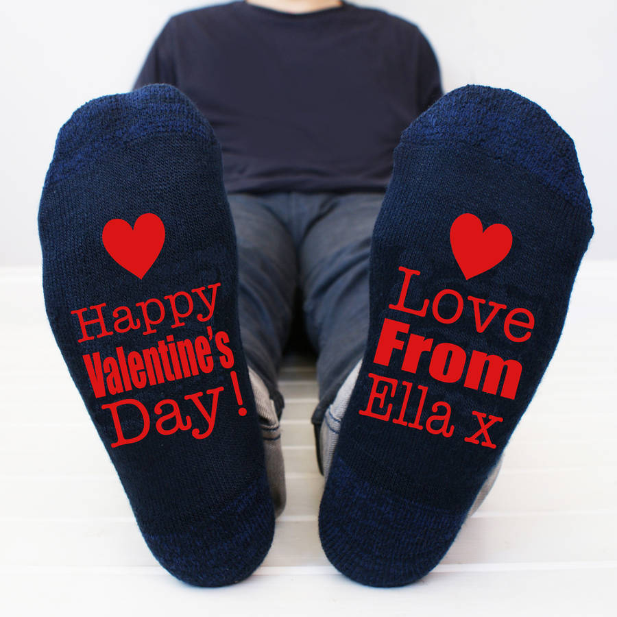 personalised happy valentines mens socks - Valentines Socks