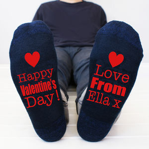 Personalised Happy Valentine's Men's Socks - underwear & socks