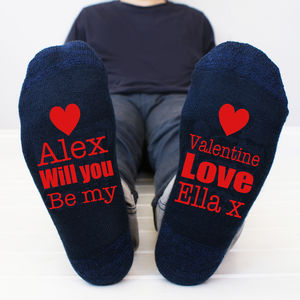 Personalised 'Be Mine' Men's Socks