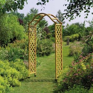 The Dorchester Wooden Garden Arch - garden furniture