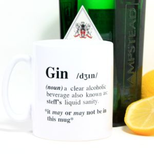 Personalised 'Gin' Definition Mug