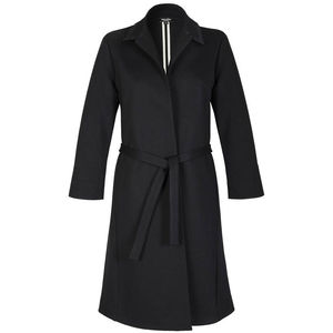 Jet Black Lightweight Punto Di Roma Belted Coat