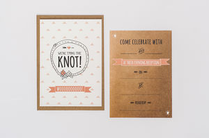 10 'Tying The Knot' Wedding Reception Invitations - wedding cards & wrap