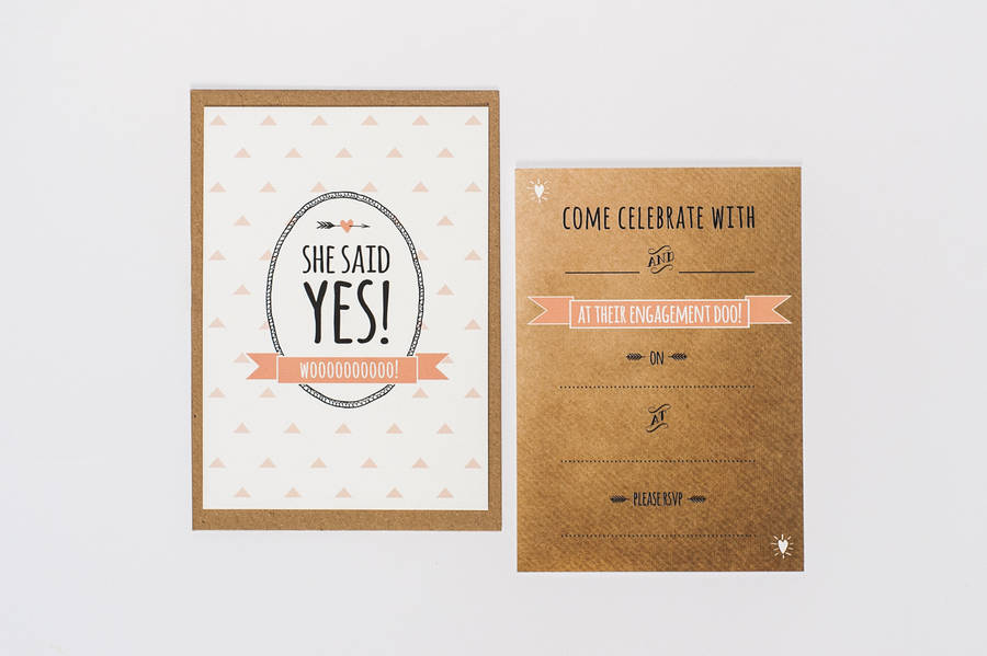 10 she said yes engagement party invites by something kinda cute