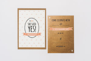 10 'She Said Yes' Engagement Party Invites - wedding cards & wrap