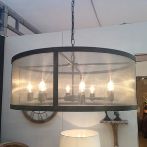 Riveted Mesh Round Chandelier - lighting