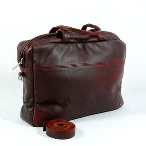 Burgundy Leather Satchel - laptop bags & cases