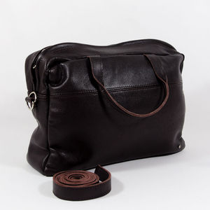 Brown Leather Satchel - laptop bags & cases