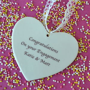 Personalised Wedding Engagement Heart