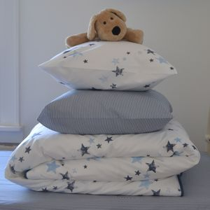 Stars Organic Single Bed Duvet Cover And Pillowcase - bedroom