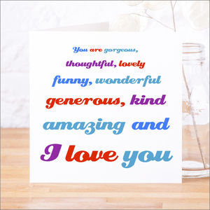 'You Are Gorgeous' Anniversary Card - weddings sale