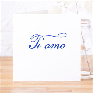 Italian 'Ti Amo' Card - wedding cards