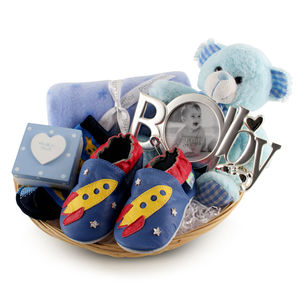 Deluxe Boy New Baby Gift Basket - gifts for babies