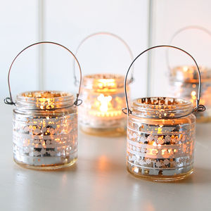 Small Vintage Silver Hanging Tealight Holder - lights & lanterns
