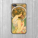 iPhone Case Art Nouveau Primrose Alphonse Mucha