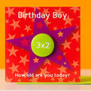 Birthday Boy Age Badge Card