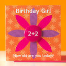 Birthday Girl Age Badge Card