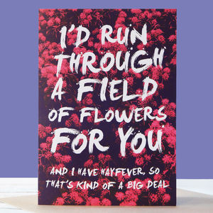Kind Of A Big Deal Hayfever Anniversary Card - anniversary cards