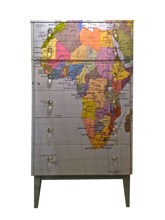 Tall Map Chest Of Drawers