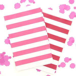 Wide Striped Paper Bags - wedding favours