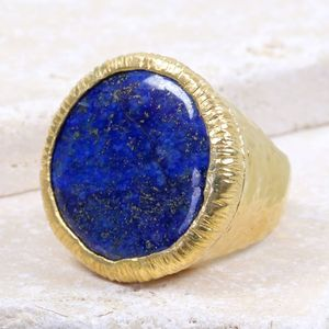 Chunky Lapis Cocktail Ring