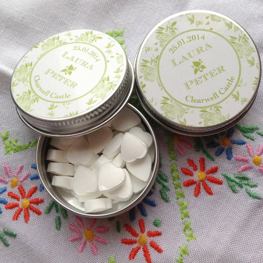 Greens China Roses Wedding Favour Tins