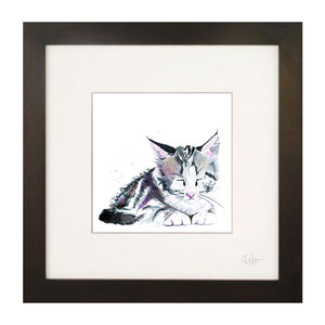 Inky Kitten Illustration Print