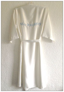 Personalised/Bespoke Silky Satin Bridal Robe - the morning of the big day