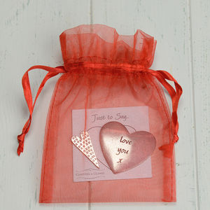 Pewter 'Love You' Message Token - wedding favours