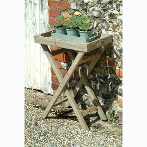 Wooden Butler's Tray Table - garden furniture